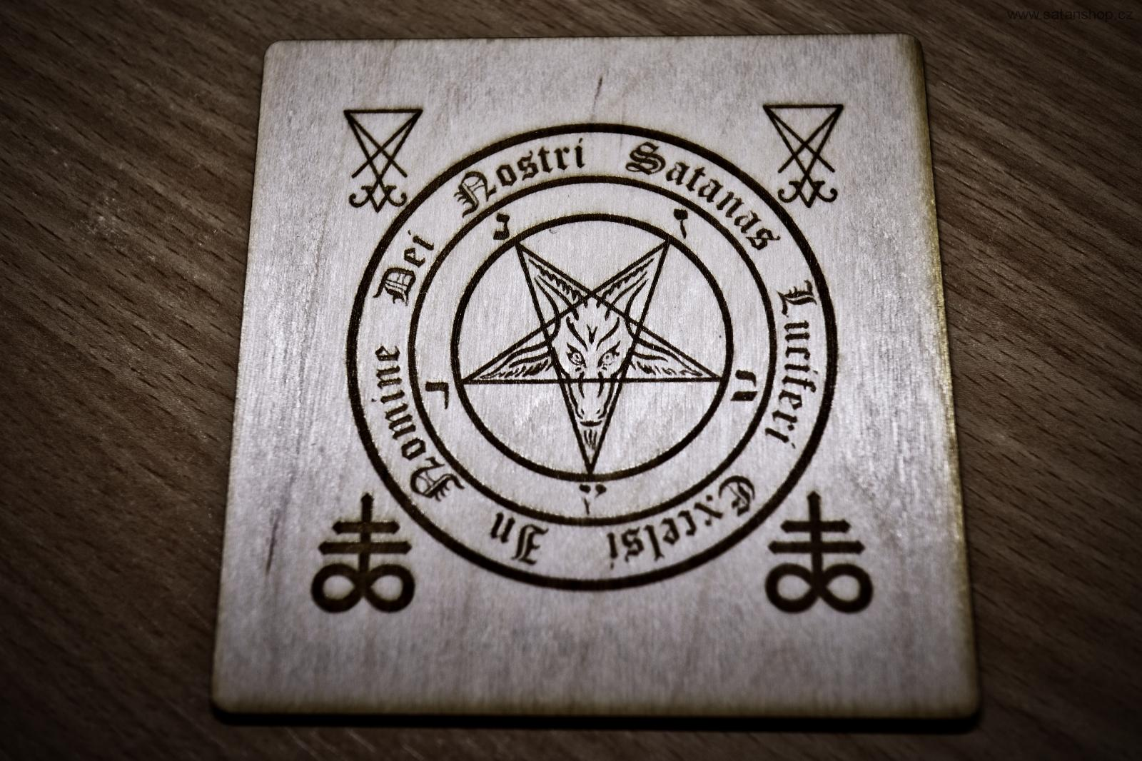 HeLLWood - In Nomine Baphomet - čtverec 100 x 100 mm