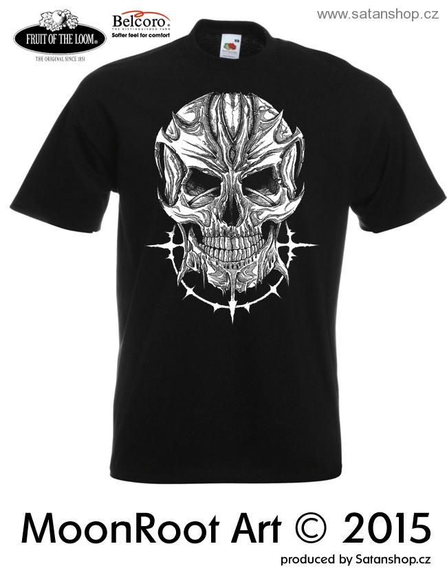 Tričko unisex - Devil Skull - MoonRoot Art
