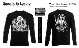 Tričko unisex - Satanic in Luxury - Moon Ring Design - dl. rukáv