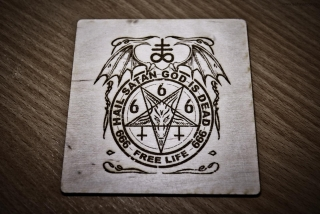 HeLLWood - Hail Satan - 666 - čtverec 100 x 100 mm