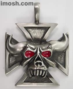 Amulet - Iron Cross Satan
