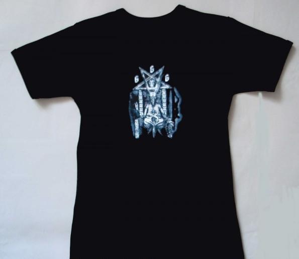 Tričko dívčí - Pentagram 666 - elastické