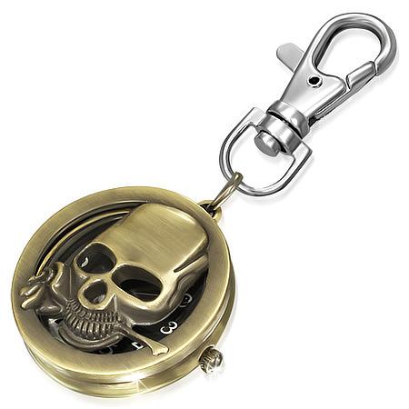 Hodinky - Skull Rose Keychain