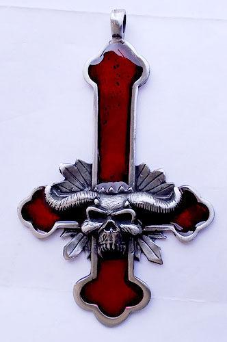 Amulet - Inverted Cross Satan Big Red
